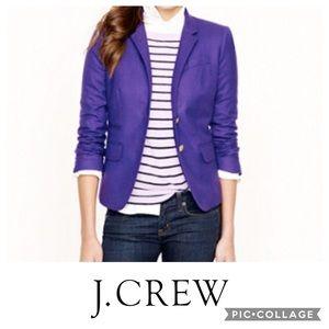 J. Crew Purple Wool Schoolboy Blazer, 4